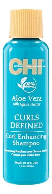 Шампунь для вьющихся волос Aloe Vera With Agave Nectar Curls Defined Curl Enhancing Shampoo: Шампунь 30мл chi luxury black seed oil curl defining cream gel