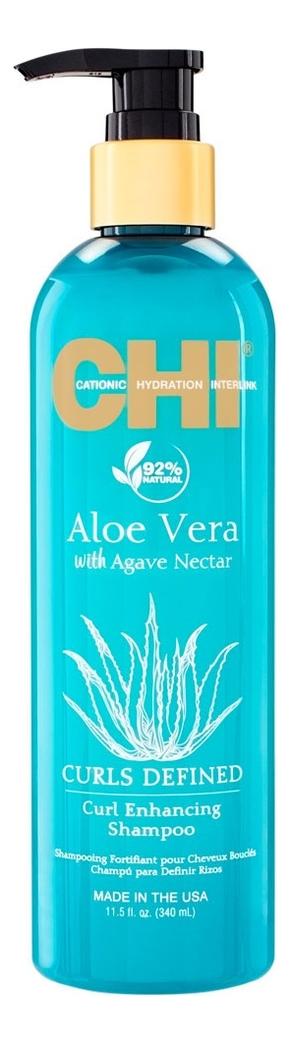Шампунь для вьющихся волос Aloe Vera With Agave Nectar Curls Defined Curl Enhancing Shampoo: Шампунь 340мл chi luxury black seed oil curl defining cream gel
