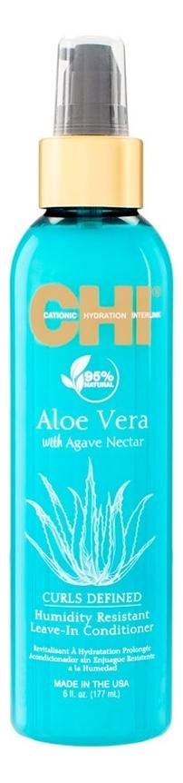 Купить Несмываемый кондиционер для вьющихся волос Aloe Vera With Agave Nectar Curls Defined Humidity Resistant Leave-In Conditioner 177мл, CHI