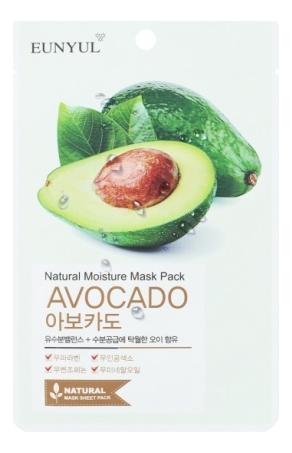 Купить Тканевая маска для лица с экстрактом авокадо Natural Mosture Mask Pack Avocado 22мл: Маска 1шт, Тканевая маска для лица с экстрактом авокадо Natural Moisture Mask Pack Avocado 22мл, EUNYUL