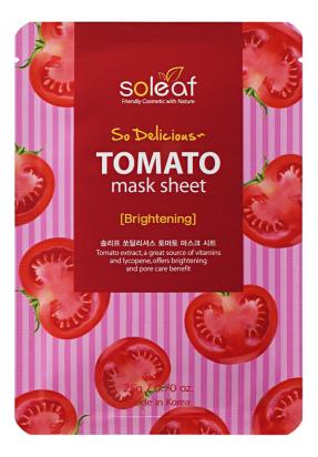 Тканевая маска для лица с экстрактом томата So Delicious Tomato Mask Sheet 25мл тканевая маска для экспресс увлажнения лица с экстрактом алоэ so delicious aloe mask sheet 25мл