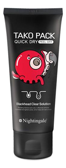 Черная маска-пленка для лица Quick Dry Tako Pack Peel Off 100мл