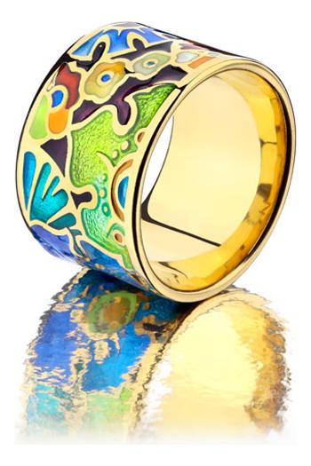 Namfleg Кольцо с горячей эмалью (арт. rc2002): Размер 18
