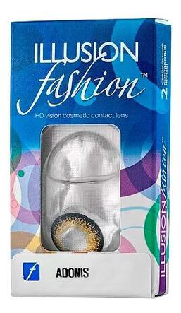 Контактные линзы Fashion Adonis (2 блистера): оптическая сила -0,50; цвет super black