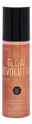 Спрей-иллюминайзер для лица и тела Glow Revolution Illuminating Spray 200мл: Timeless Bronze