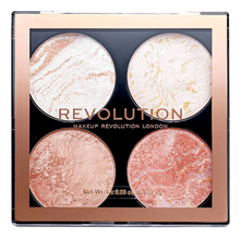Makeup Revolution Палетка хайлайтеров для лица 4 в 1 Highlighter & Bronzer Cheek 8,8г
