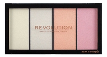 Makeup Revolution Палетка хайлайтеров для лица Reloaded Lustre 5г