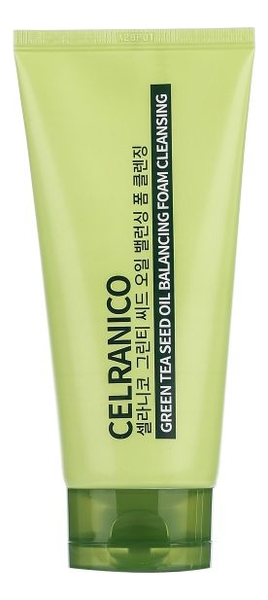 Себорегулирующая пенка для умывания с маслом семян зеленого чая Green Tea Seed Oil Balancing Foam Cleansing 150мл chi luxury black seed oil curl defining cream gel