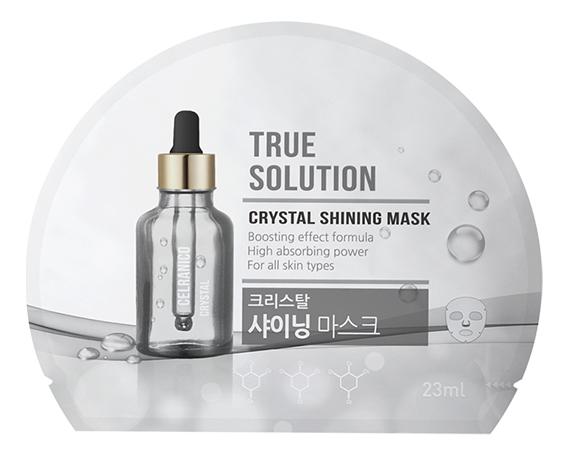 Тканевая маска для лица True Solution Crystal Shining Mask 23мл фото