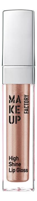 Купить Блеск для губ с эффектом влажных губ High Shine Lip Gloss 6, 5мл: 14 Rosy Glint, MAKE UP FACTORY