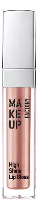 Купить Блеск для губ с эффектом влажных губ High Shine Lip Gloss 6, 5мл: 17 Dazzling Bronze, MAKE UP FACTORY