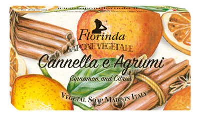 Фото - Натуральное мыло Cannella E Agrumi 100г: Мыло 100г натуральное мыло passione di frutta uva e mirtillo 100г мыло 100г