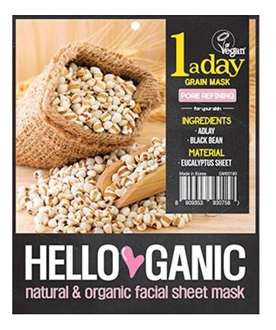 Противовоспалительная детокс-маска для лица с экстрактом злаков адлая и черной фасоли One A Day Fruit Mask 23мл фото