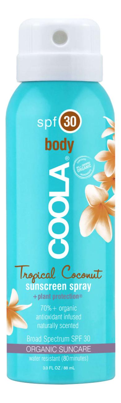 Солнцезащитный спрей для тела Body Sunscreen Spray Tropical Coconut SPF30: Спрей 88мл солнцезащитный спрей для тела sport sunscreen spray unscented spf50 спрей 177мл