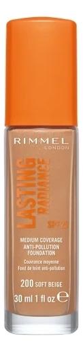 Купить Тональный крем Lasting Radiance Foundation SPF25 30мл: 200 Soft Beige, Rimmel