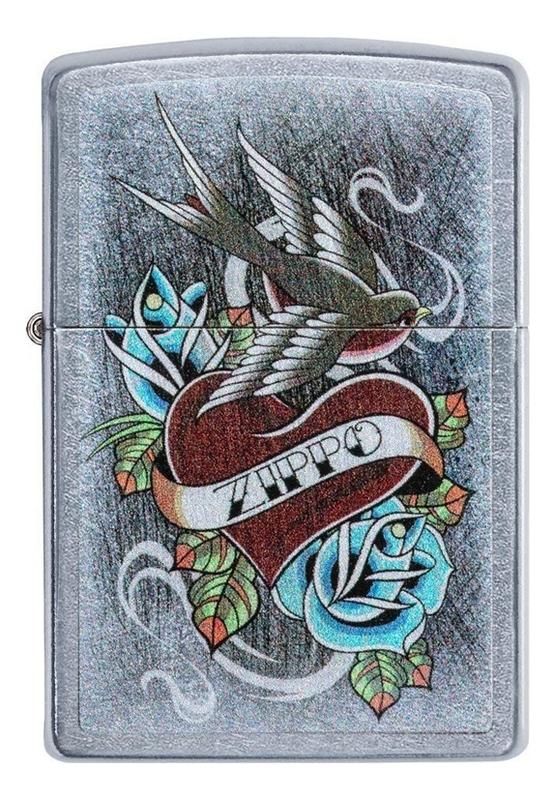 Купить Зажигалка бензиновая Vintage Tattoo 29874 (серебристая), Zippo