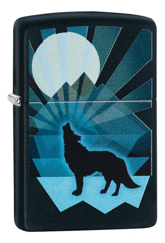 Купить Зажигалка бензиновая Wolf And Moon 29864, Zippo