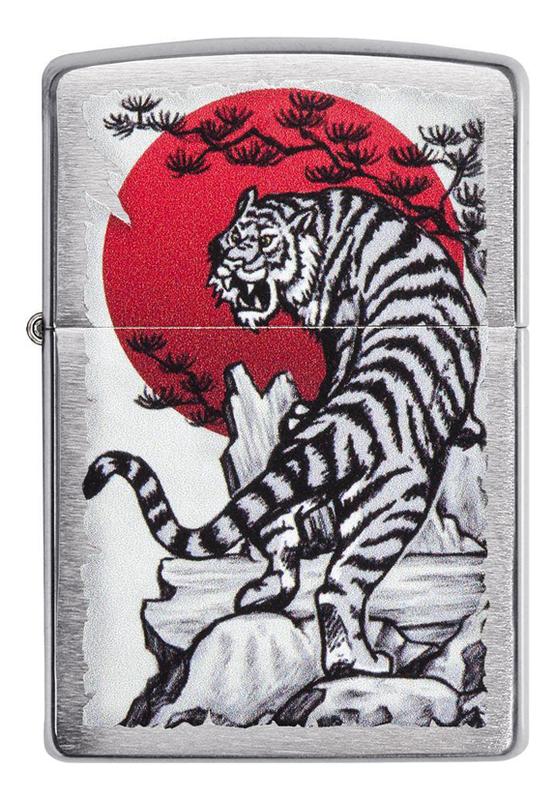 Купить Зажигалка бензиновая Asian Tiger Design 29889, Zippo