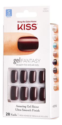 цена на Накладные ногти Ультра стойкий гелевый маникюр Gel Fantasy Nail KGN09 28шт (с клеем, короткая длина)