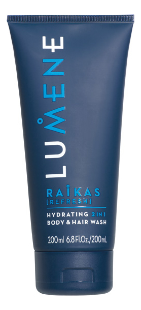 Шампунь-гель для душа For Men Raikas Hydrating 2 in 1 Body & Hair Wash 200мл