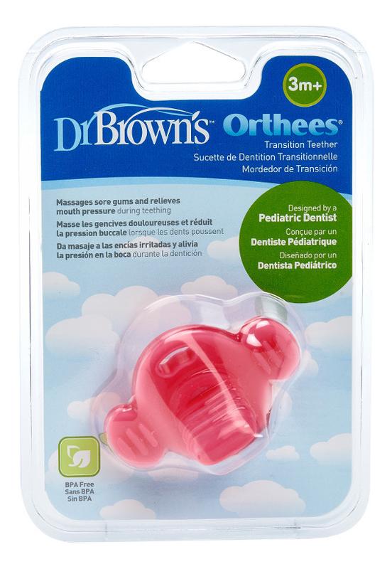 Фото - Прорезыватель для зубов переходный Orthees TE332 (розовый) dr browns прорезыватель coolees