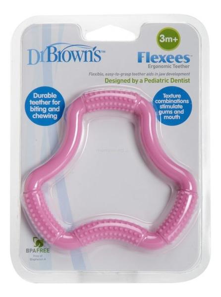 Фото - Прорезыватель для зубов Flexees TE101 (розовый) dr browns прорезыватель coolees