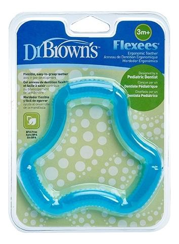 Фото - Прорезыватель для зубов Flexees TE102 (голубой) dr browns прорезыватель coolees