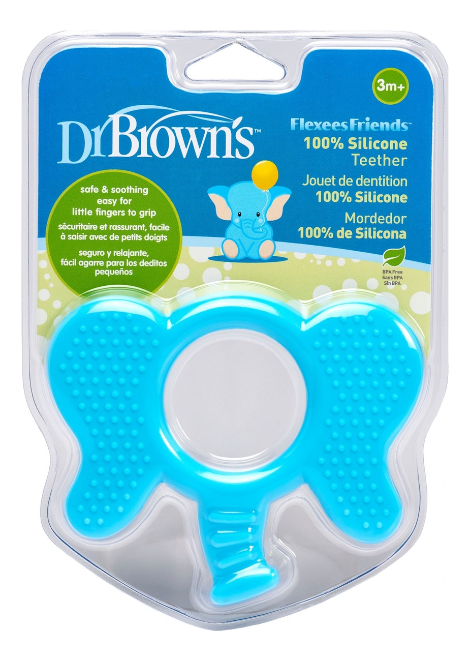 Фото - Прорезыватель для зубов Flexees Слоник TE102 (голубой) dr browns прорезыватель coolees