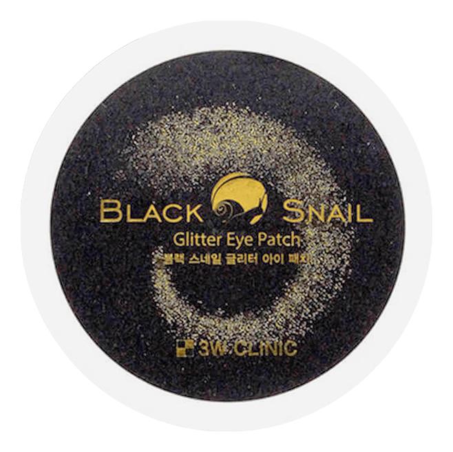 Гидрогелевые патчи для кожи вокруг глаз с муцином черной улитки Black Snail Glitter Eye Patch 60шт недорого