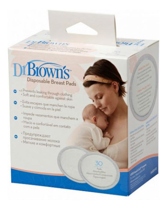 Вкладыши для бюстгальтера впитывающие Disposable Breast Pads 30шт