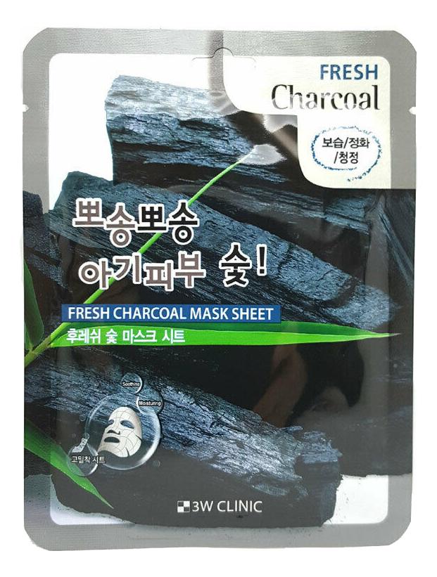 Фото - Тканевая маска для лица с древесным углем Fresh Charcoal Mask Sheet: Маска 23г глиняная маска пенка для лица с древесным углем charcoal mud pack to foam 7 3мл