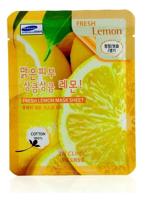 Тканевая маска для лица с экстрактом лимона Fresh Lemon Mask Sheet: Маска 23г lebelage тканевая маска для лица увлажняющая aqua natural mask 23г