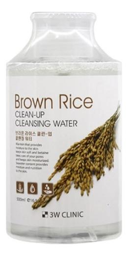Очищающая вода для снятия макияжа с экстрактом риса Brown Rice Clean-Up Cleansing Water 500мл очищающая вода для снятия макияжа jeju sparkling cleansing water 510мл
