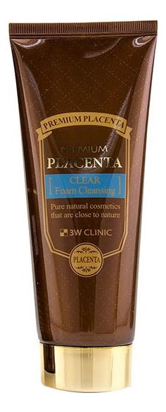 Омолаживающая пенка для умывания с экстрактом плаценты Premium Placenta Clear Foam Cleansing 180мл фото