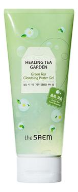 Очищающий гель для лица с экстрактом зеленого чая Healing Tea Garden Green Tea Cleansing Water Gel 200мл the saem салфетки очищающие с экстрактом зеленого чая healing tea garden 60 шт