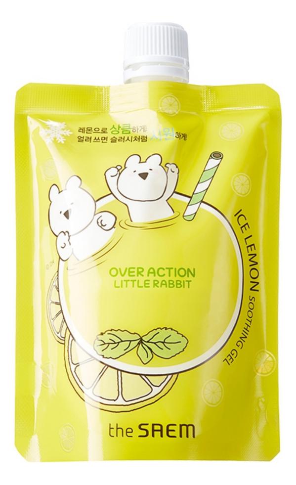 Гель для лица и тела успокаивающий Over Action Rabbit Ice Lemon Soothing Gel 180мл