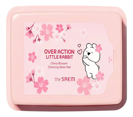 Очищающие пэды для лица Rabbit Healing Tea Garden Cherry Blossom Cleansing Water Pad 230г