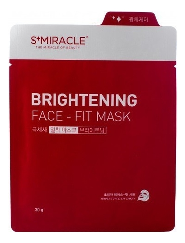 Маска для лица придающая сияние S+Miracle Brightening Face Fit Mask 30г