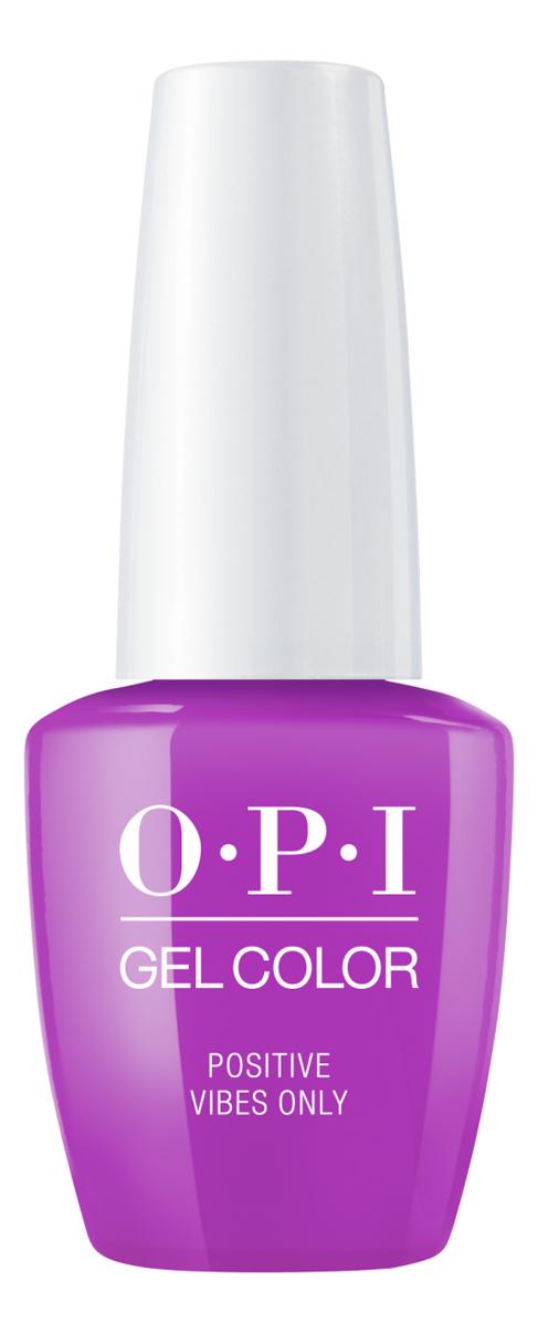 Фото - Гель-лак для ногтей Gel Color 15мл: Positive Vibes Only закрепляющее покрытие гель для ногтей супер блеск super gloss gel 15мл