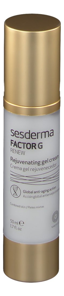 Омолаживающий крем-гель для лица Factor G Renew Crema Gel Rejuvenecedor 50мл гель крем для лица alpha homme genwood hydro 50мл