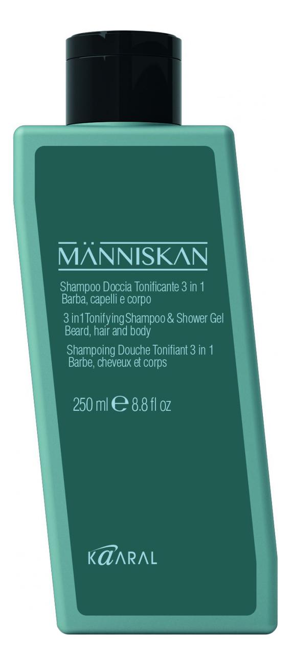 Купить Тонизирующий шампунь-гель для душа 3 в 1 Manniskan Tonifying Shampoo & Shower Gel: Шампунь-гель 250мл, Тонизирующий шампунь-гель для душа 3 в 1 Manniskan Tonifying Shampoo & Shower Gel, KAARAL