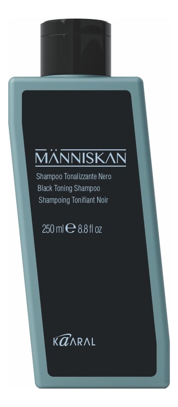 Черный тонирующий шампунь для волос Manniskan Black Toning Shampoo: Шампунь 250мл