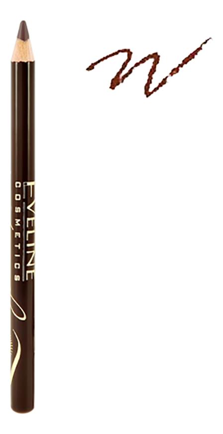 Купить Контурный карандаш для бровей Eyebrow Pencil 5г: Soft Brown, Eveline