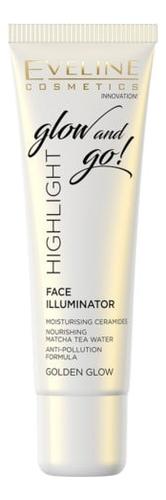 Жидкий хайлайтер для лица Highlight Face Illuminator Glow And Go 20мл: Golden
