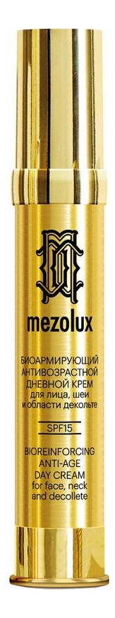 Купить Биоармирующий антивозрастной дневной крем для лица, шеи и области декольте Mezolux Bioreinforcing Anti-Age Day Cream SPF15: Крем 30мл, Librederm