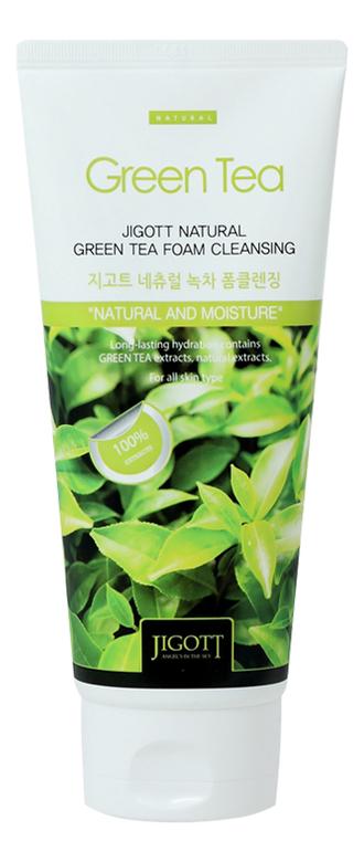 Фото - Пенка для умывания с экстрактом зеленого чая Natural Green Tea Foam Cleansing 180мл пенка для умывания с экстрактом кактуса и ромашки natural perfect solution cleansing foam mild 170г
