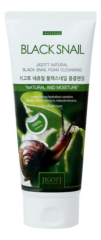 Купить Пенка для умывания с муцином черной улитки Natural Black Snail Foam Cleansing 180мл, Jigott