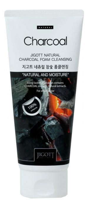 Купить Пенка для умывания с древесным углем Natural Charcoal Foam Cleansing 180мл, Jigott