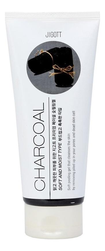 Купить Пилинг-гель для лица с древесным углем Premium Facial Charcoal Peeling Gel 180мл, Jigott