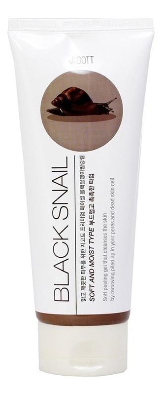 Пилинг-гель для лица с муцином черной улитки Premium Facial Black Snail Peeling Gel 180мл